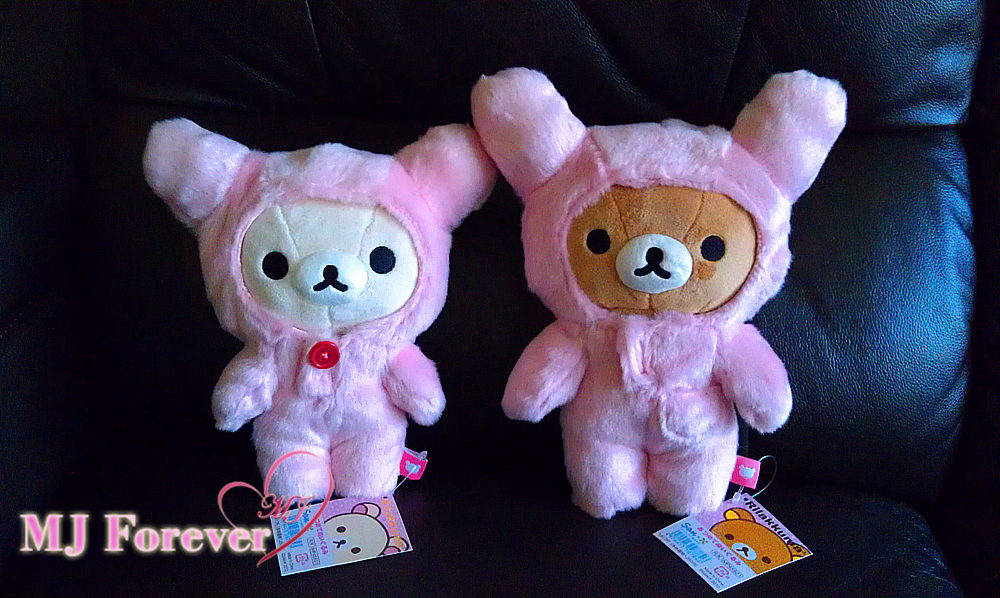 The sweet pink fluffy rabbit suits are removable, they are sooo soft and cuddly!  They are a lovely addition to my collection!