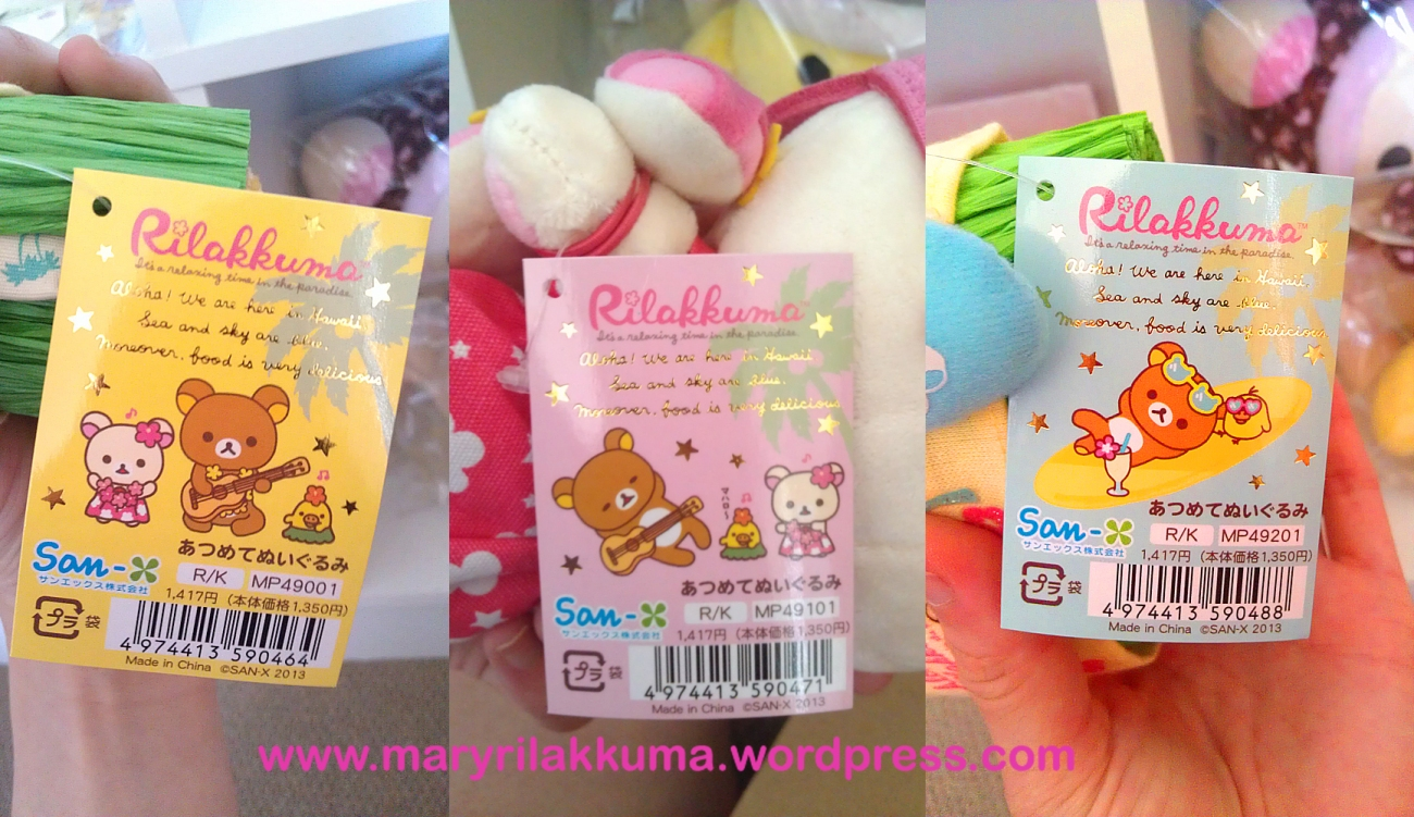 """The tags are soooo cute!  They say """"Aloha, we are here in Hawaii, sea and sky are blue, moreover, food is very delicious""""  hahaha!"""