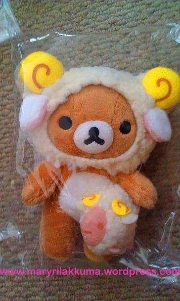 Aries!  Rilakkuma's also holding a little ram!  So cute!