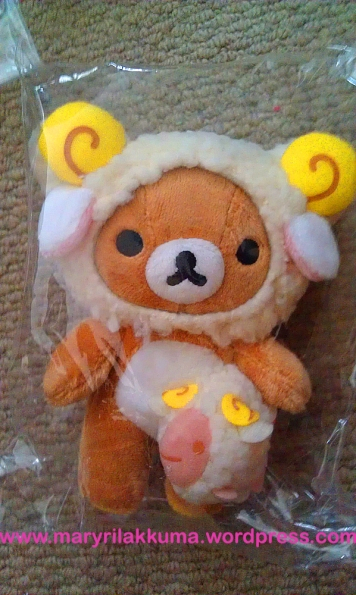 Aries!  Rilakkuma's also holding a little ram!  So cute!
