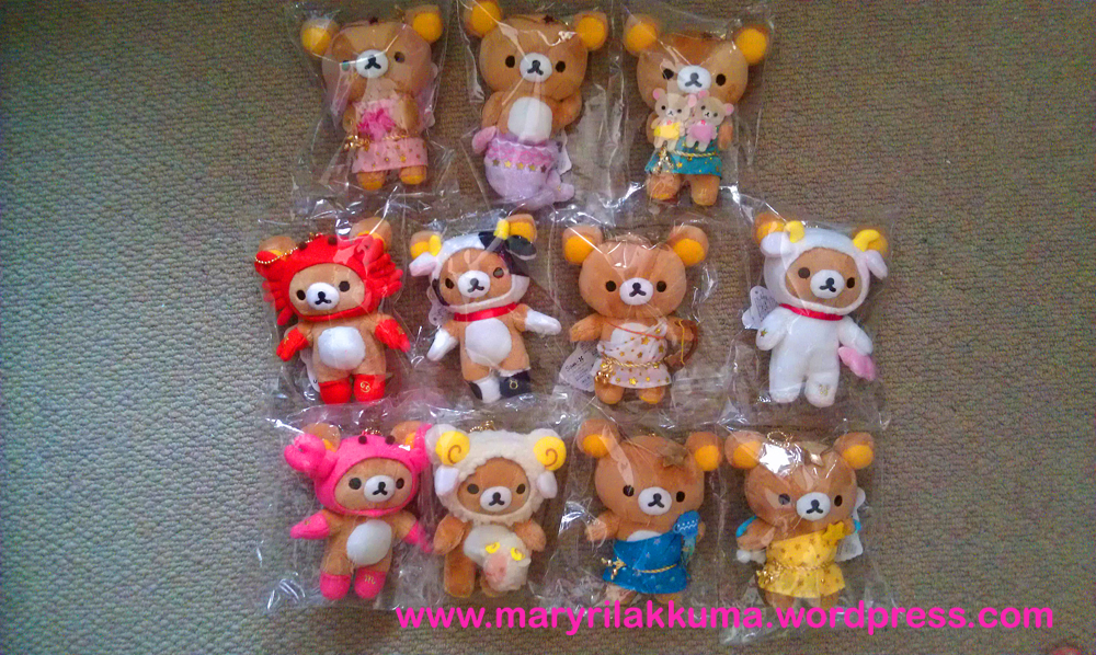 Zodiac Rilakkuma in miniature keychain version (minus Leo)