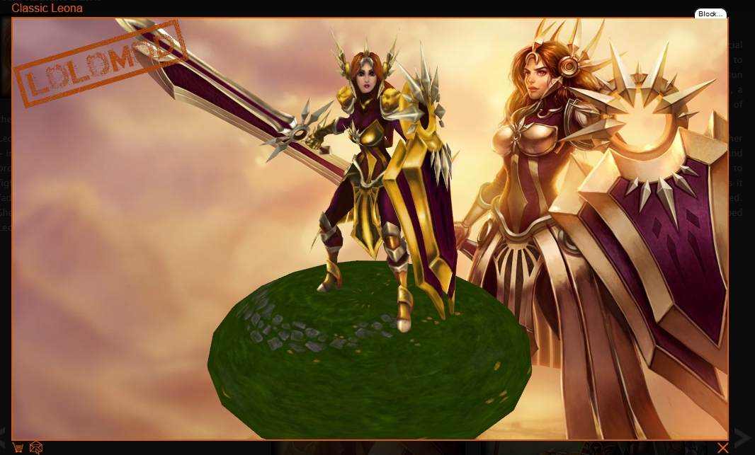 Splash art and in-game model of Leona