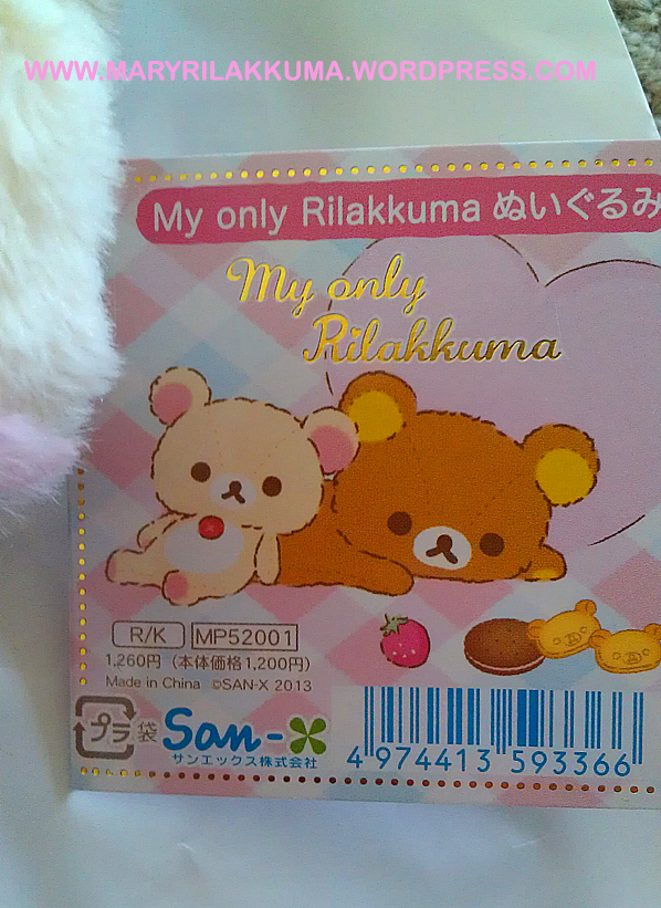 Korilakkuma's tag is equally cute!