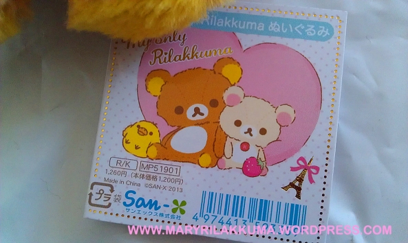 Rilakkuma's tag - so cute!