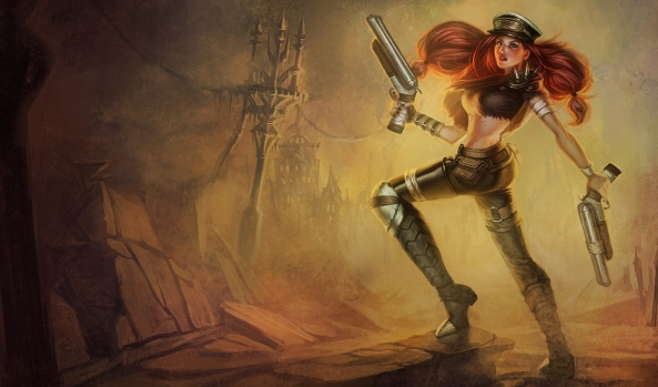 My favourite champion in my favourite skin - Road Warrior Miss Fortune!