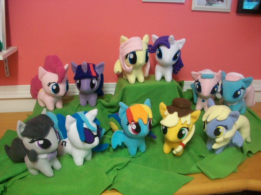 Group of chibi ponies!