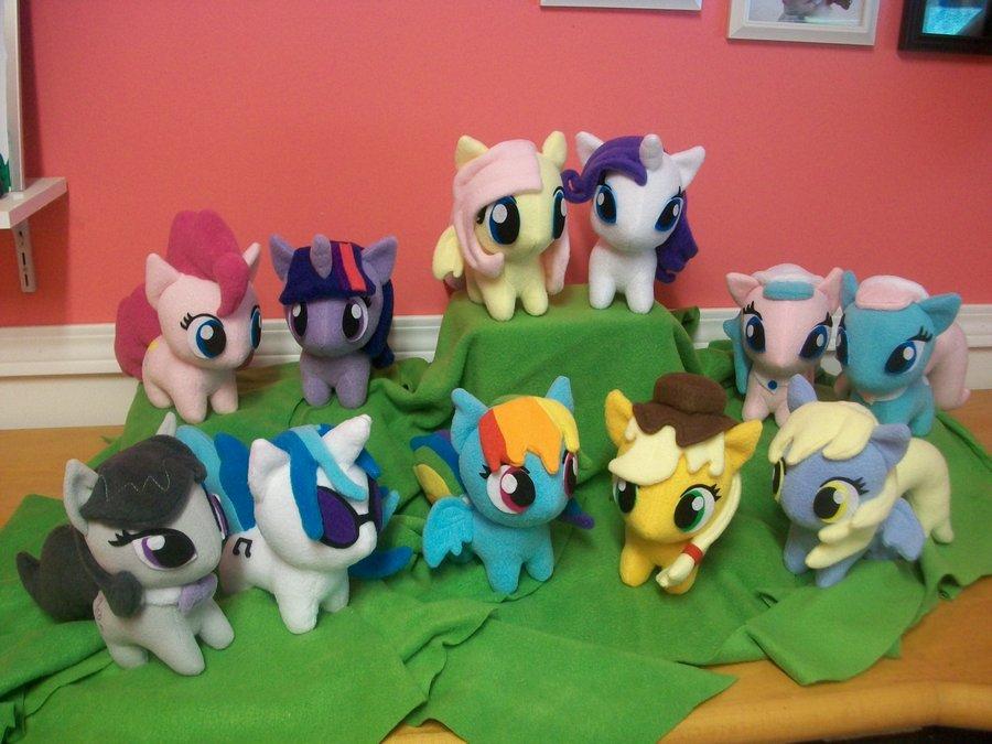 Group of chibi ponies!