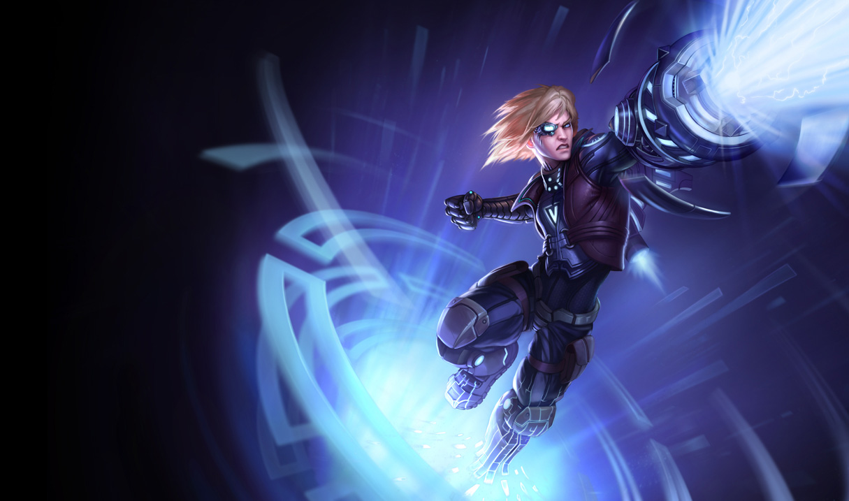 Splash art for Pulsefire Ezreal