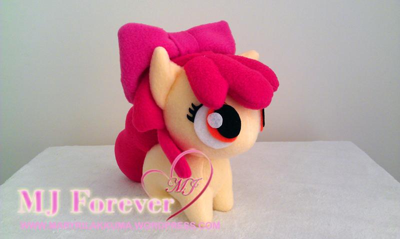 Chibi Applebloom plushie by happybunny86