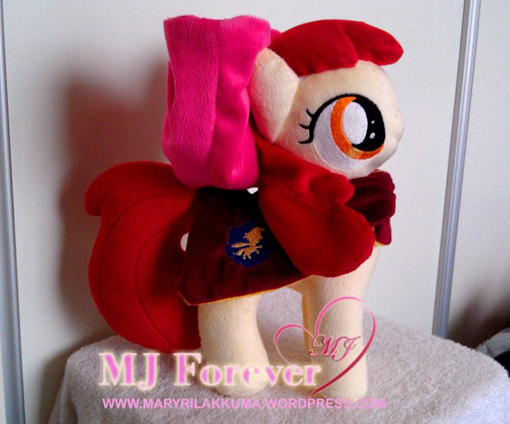 Apple Bloom with her Cutie Mark Crusaders cape!