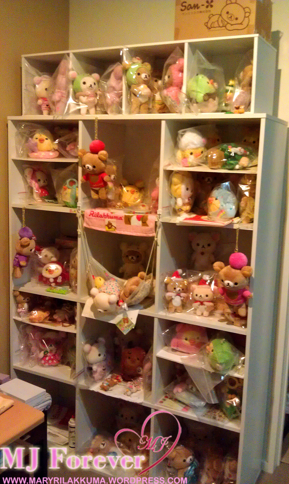 Rilakkuma collection shelf #1
