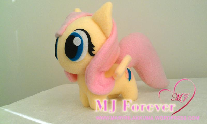 Chibi Fluttershy plushie by happybunny86