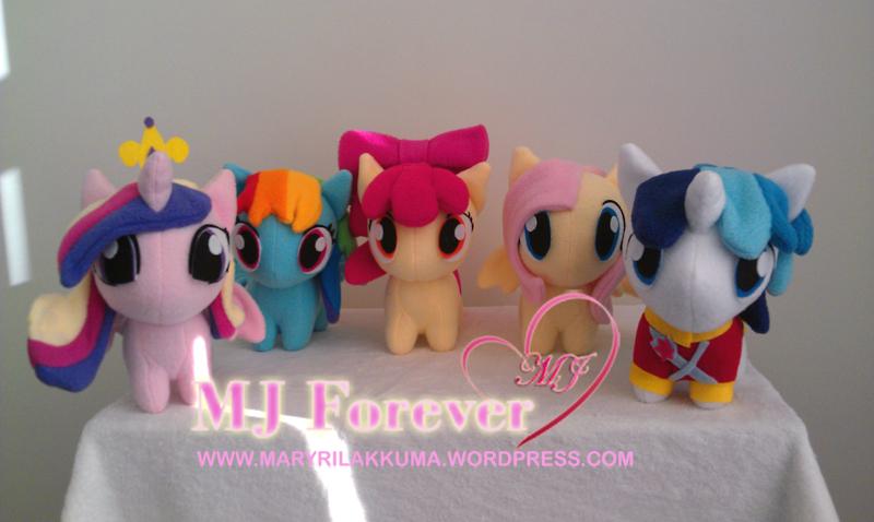 Chibi ponies by happybunny86