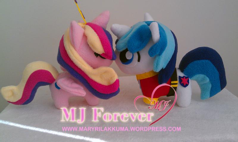 Best pony couple!  Chibi Princess Cadance and Shining Amour plushies by happybunny86