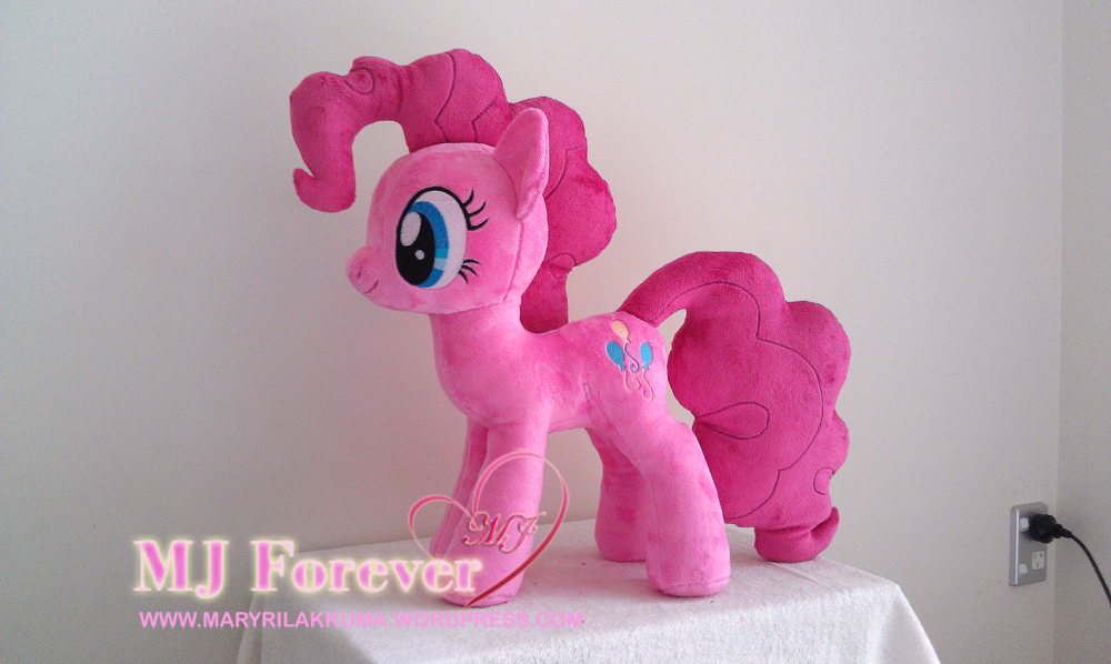 Huge Pinkie Pie plushie by Wild-Hearts