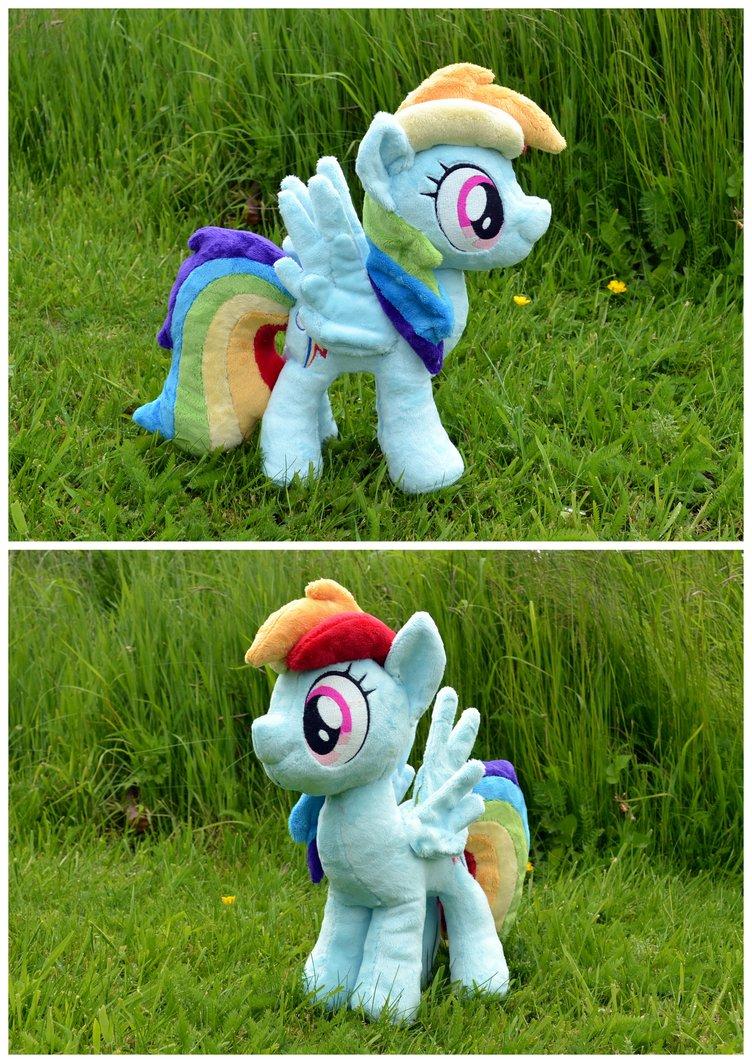 Rainbow Dash plushie by PulsefireKitten :D
