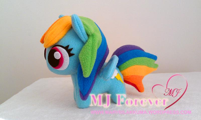 Chibi Rainbowdash plushie by happybunny86