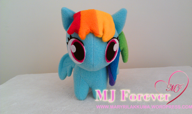 Chibi Rainbowdash plushie by happybunny86