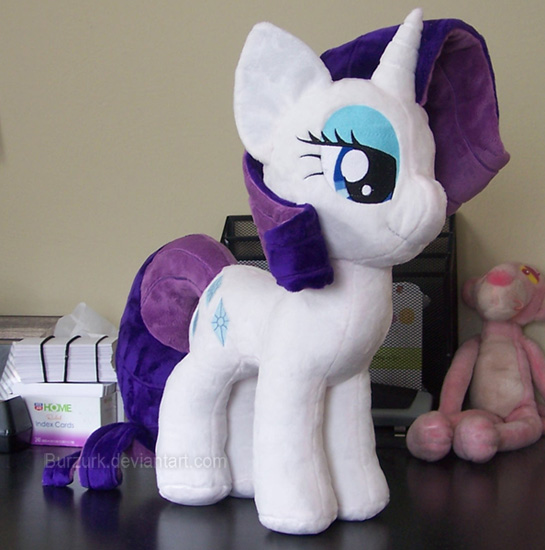 Rarity plushie by burzurk