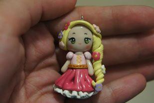 Rapunzel Chibi Polymer Clay Charm
