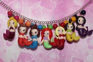 Ariel and Sisters Necklace (Little Mermaid)