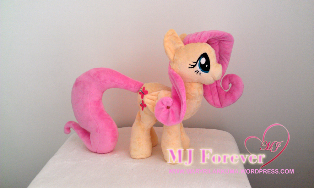 Dangerous Mission Fluttershy plushie by Sophillia - with wings attached, outfit off