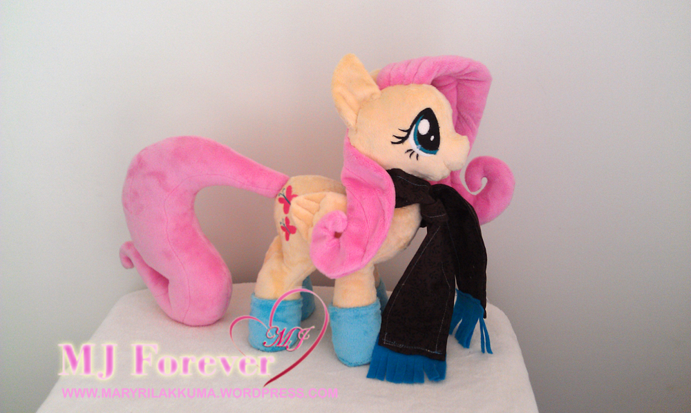 Dangerous Mission Fluttershy plushie by Sophillia - with wings attached and scarf gift!