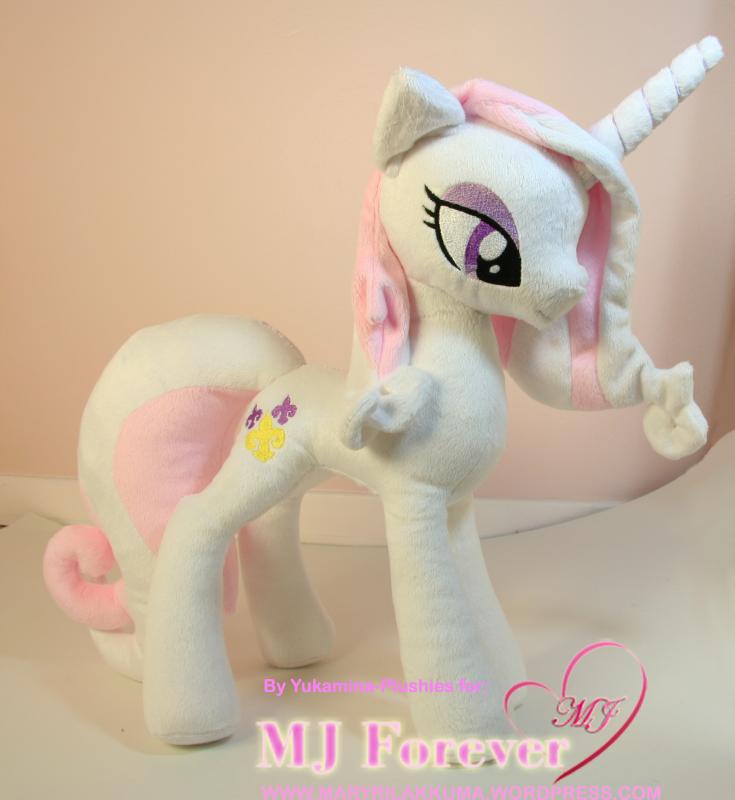 My Fleur De Lis pony plushie by Yukamina-Plushies