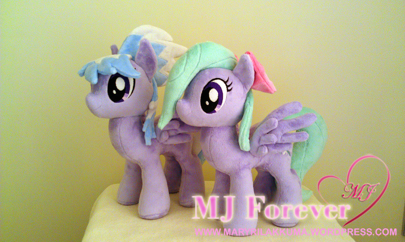 Flitter and Cloudchaser plushies by Little-Broy-Peep-Inc