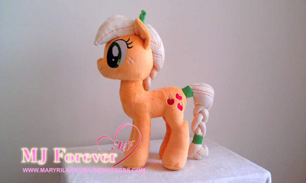 Crystal pony Applejack by GreenTeaPlushies!