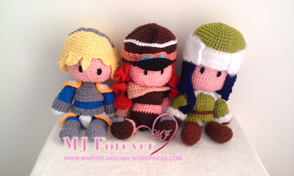 Lux, Road Warrior Miss Fortune and Arctic Warfare Caitlyn amigurumi by ayinai