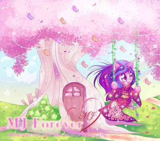Mardelia wearing her kimono! Drawn by Fumuu