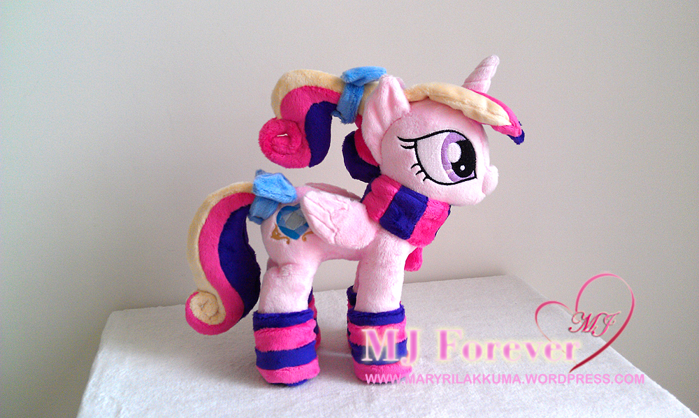 Foalsitter Princess Cadance plushie by navkaze (with her winter gear!)