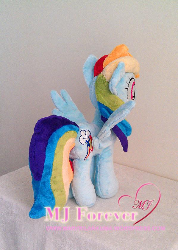 Rainbow Dash plushie by PulsefireKitten