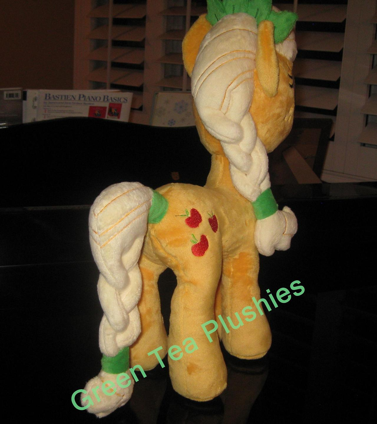 Pre-shipment pics for Crystal Pony Applejack by GreenTeaPlushies