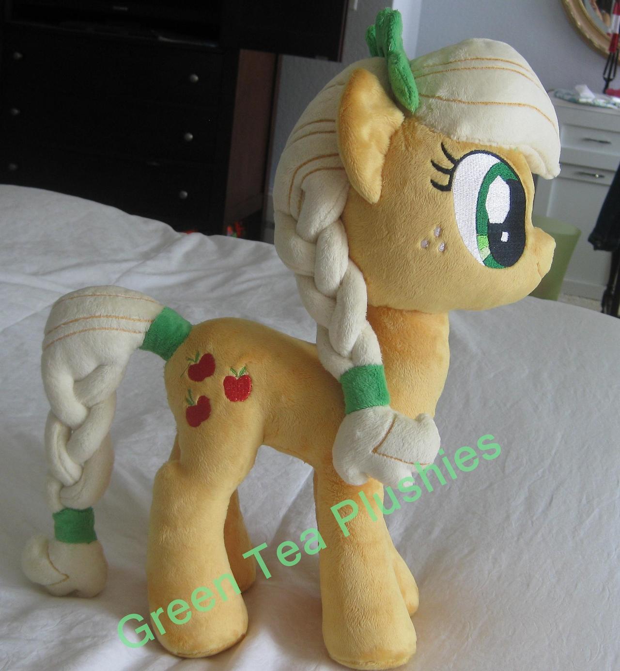 Pre-shipment pics for Crystal Pony Applejack by GreenTeaPlushies