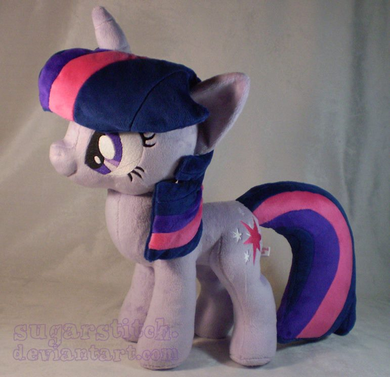 Pre-shipment pics for Winter Wrap-Up Twilight plushie by sugarstitch