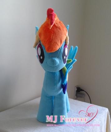 Rainbow Dash plushie by meeeeeee!!!!!!!