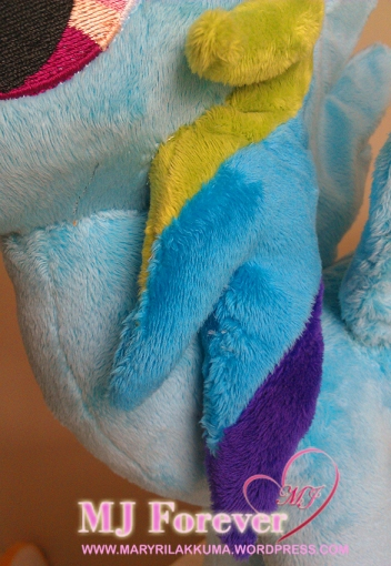 Rainbow Dash plushie by meeee!!!! (trying to capture the purple and darker blue colour in her hair!)