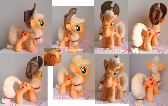 Applejack plushie by meeeeeeee!!!!!!