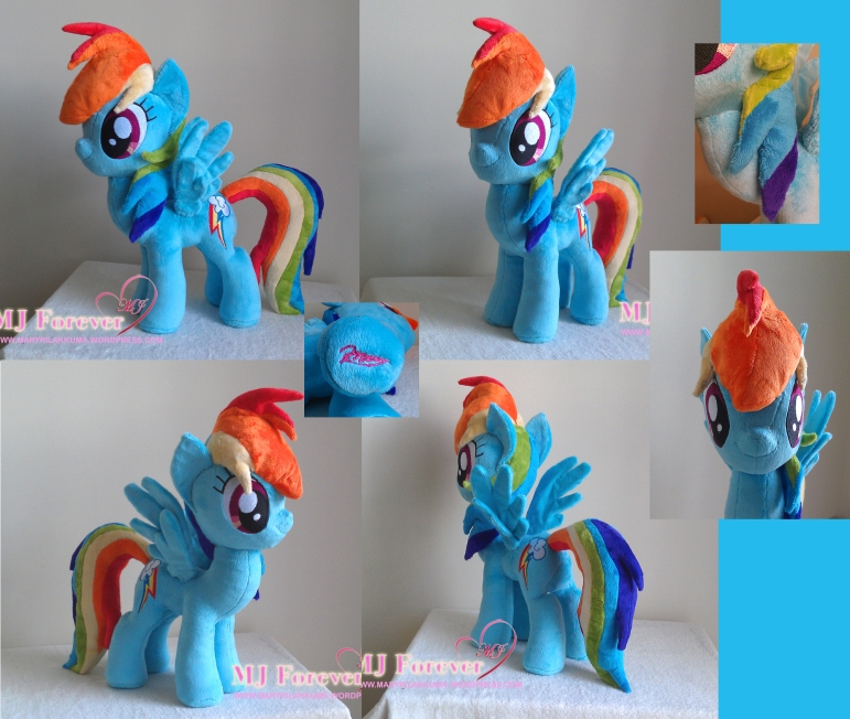 Rainbow Dash plushie by meeeeee!!!!!