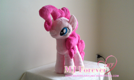 Pinkie Pie plushie by ME!!!!! :D (my second plushie)