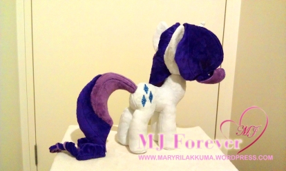 Rarity plushie made by meeeeeeeeee!!!!!