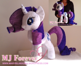 Rarity plushie by meeeeeee!!!!!