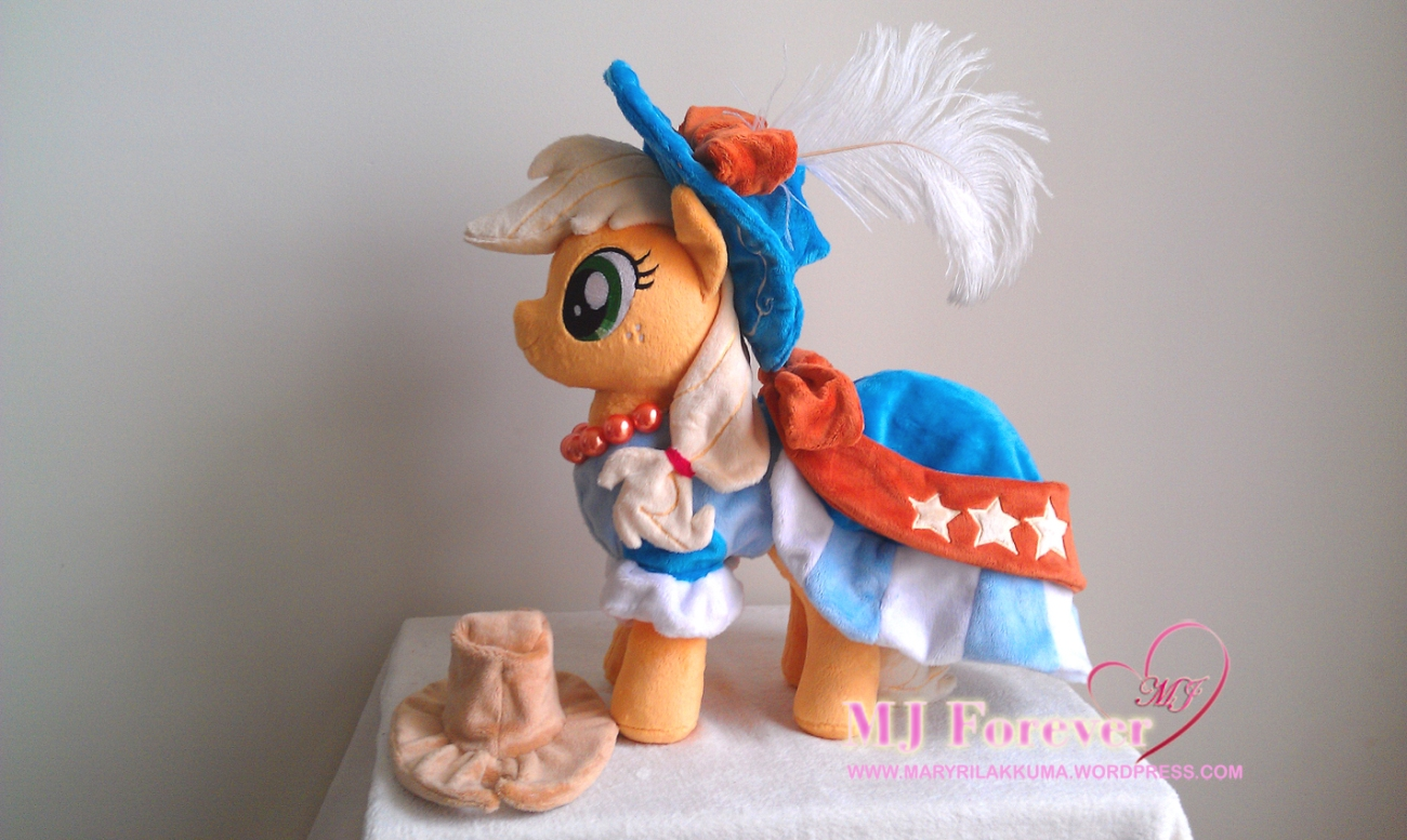 Applejack in coronation dress by Little-Broy-Peep-Inc