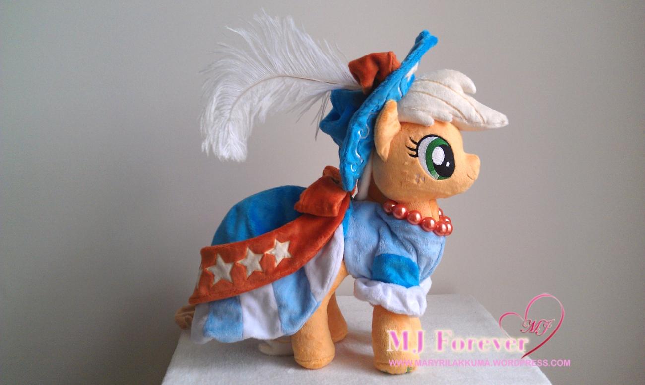 Applejack in coronation dress by Little-Broy-Peep-Inc