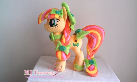 My earth pony OC - Bliss, plushified by Little-Broy-Peep-Inc