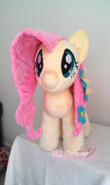 Crystal Pony Fluttershy plushie by Burzurk