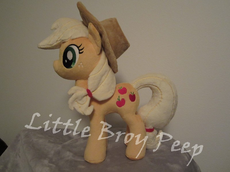 Applejack plushie by Little-Broy-Peep-Inc