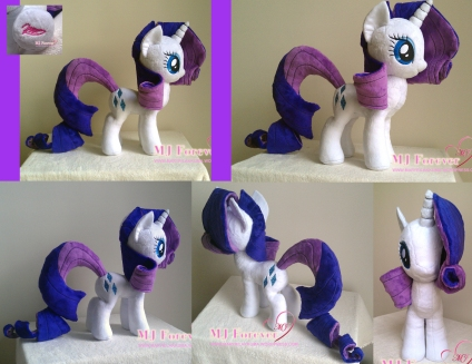 Rarity plushie by meeeee!!!!!!!!!!!